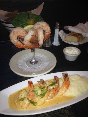 Ruth's Chris Steak House: Shrimp Cocktail, Shrimp Scampi appetizers