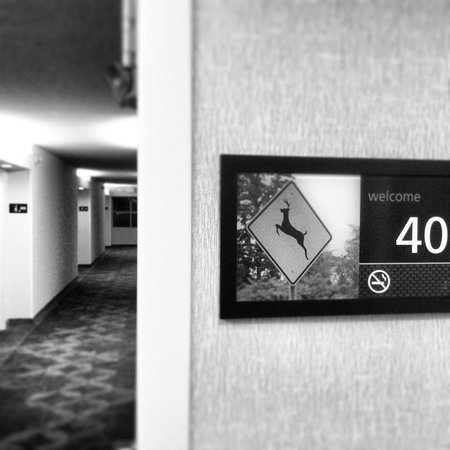 Hampton Inn Ft. Lauderdale West / Pembroke Pines: Hallway and cool room signs