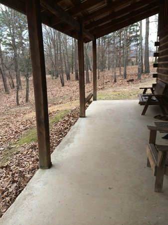 Bucks and Spurs Guest Ranch: The porch of my cabin