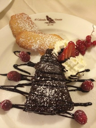 Al Colombo : Sacher Torte - amazing dessert selection.