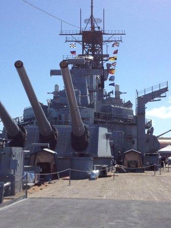 Battleship USS Iowa BB-61: The Iowa big guns and tower