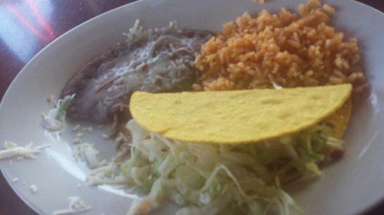 Patron: Kids beef taco plate