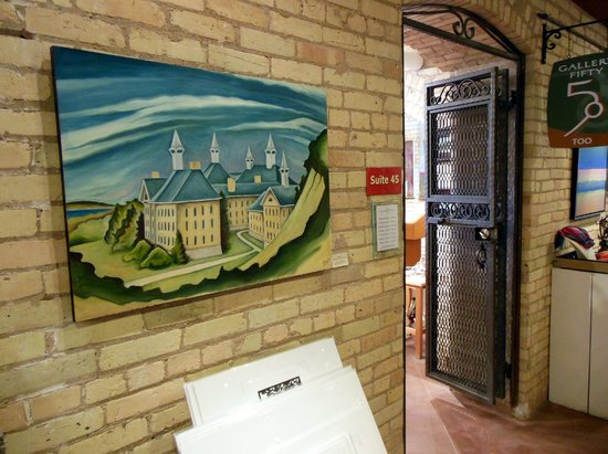 The Village at Grand Traverse Commons : Interior Corridor Art Work & Shop Entrance