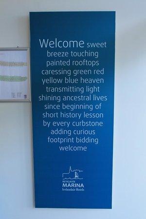 Icelandair Hotel Reykjavik Marina: welcome