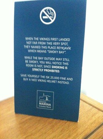 Icelandair Hotel Reykjavik Marina: sense of humour