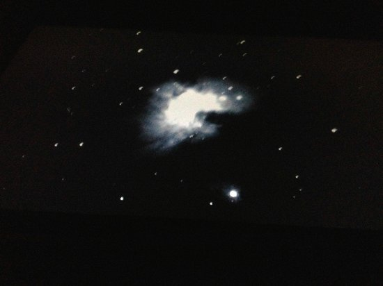 Maunakea Visitor Information Station : Orion's Nebula - as seen from the high powered telescope