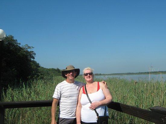 Saint Lucia Estuary: with st Lucia lake behind us