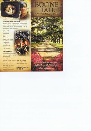 Boone Hall Plantation Brochure