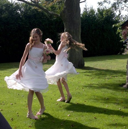 West Tower Country House Hotel: our pretty flower girls!