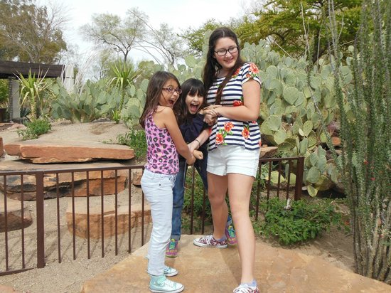 Ethel M Chocolates Factory and Cactus Garden: Cactus garden girls