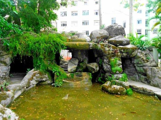 Museu da República: mini cachoeira