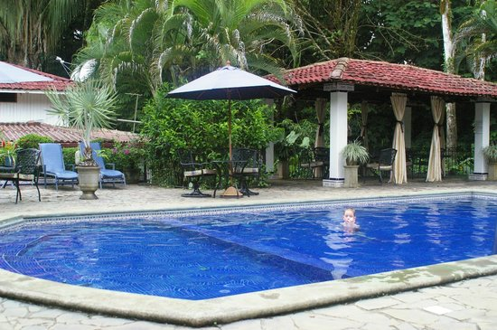 Casa Corcovado Jungle Lodge : The main pool - there are two