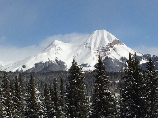 Purgatory Resort: Engineer mountain; a beautiful 12er visible from DMR.