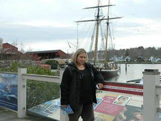 Me enjoying the day at Mystic Seaport Harbor