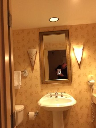 Little Rock Marriott : burned out light on the left.  tub leaked, too