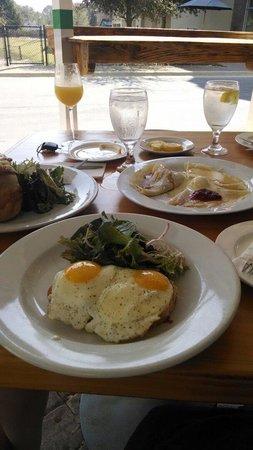 Clemenza's at Uptown: Left-eggs Benedict Front Center- cronc Madame Back center- crepe sampler