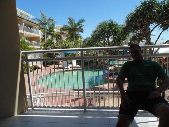 Breakfree Alexandra Beach Premier Resort : Nice view from balcony to pool