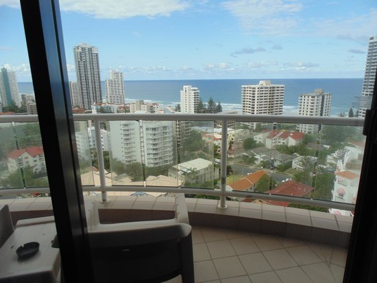 Crowne Plaza Surfers Paradise: View from balcony