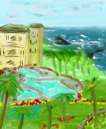Montage Kapalua Bay: my drawing of the pool