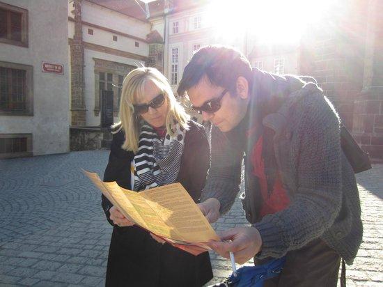 Prague Extravaganza Free Tour : Zdenek helping us find our way back!!
