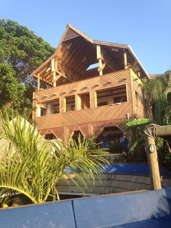 Tranquilseas Eco Lodge and Dive Center: Yoga class at the top of the house.. Amazing views..