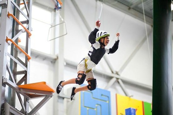 Sender One Climbing: The velcro wall is one of the kids' favorites