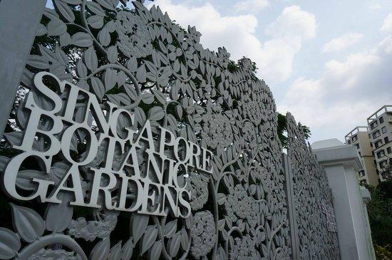 Jardines Botánicos de Singapur: one of the pretty entrance