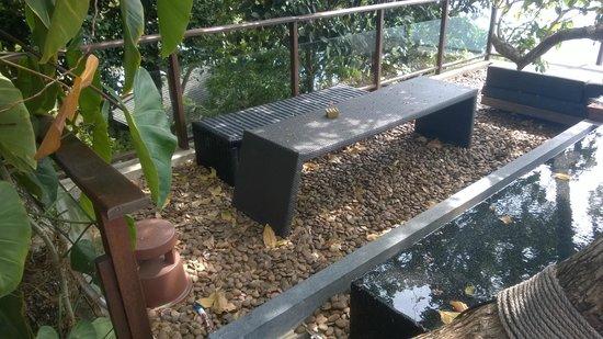 Paresa Resort Phuket: Ramdon benches stored in the corner