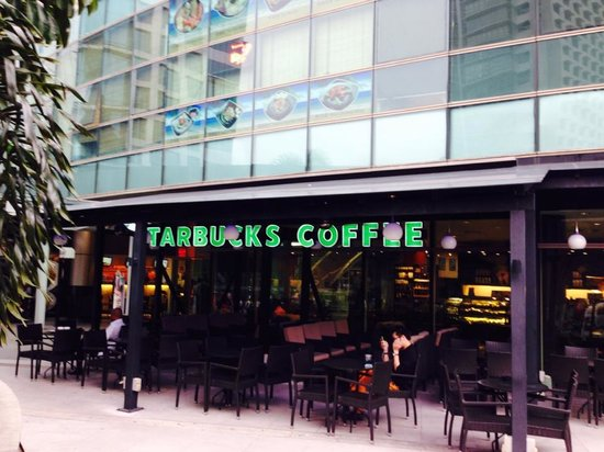 Aloft Kuala Lumpur Sentral: Starbucks across the street