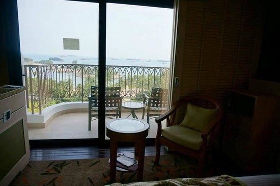 Shangri-La's Rasa Sentosa Resort & Spa: view from the room