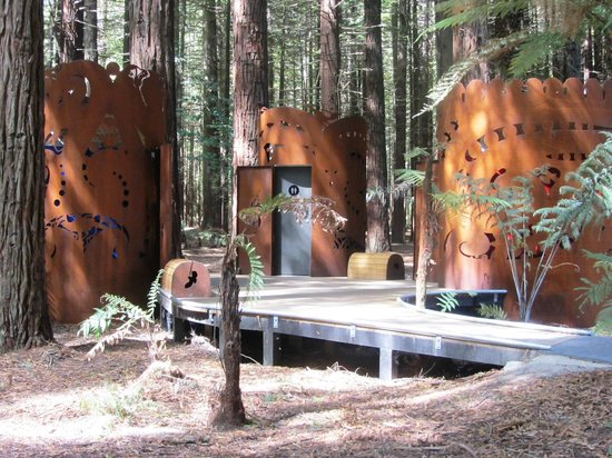 Redwoods, Whakarewarewa Forest: The toilets were different