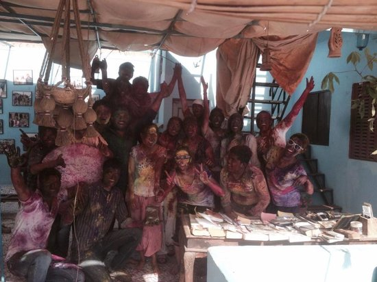 Kesar Heritage Guest House : Our group of HOLI