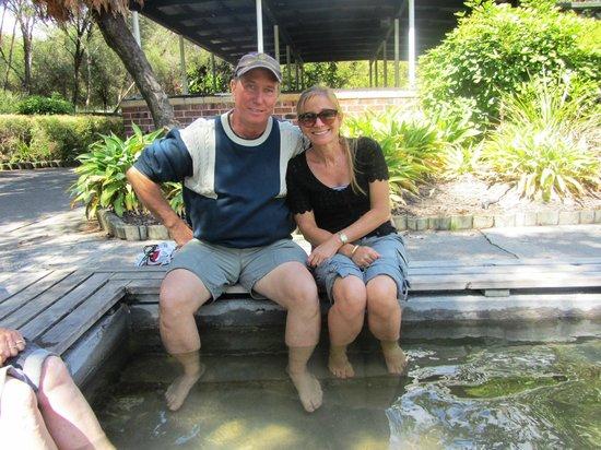 Kuirau Park: Soaking in the hot foot bath