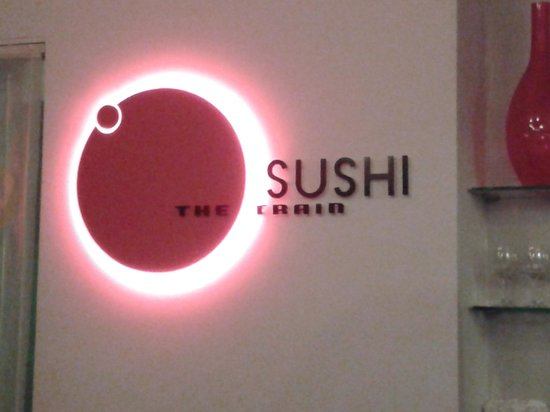 OSUSHI The Train: お店の看板