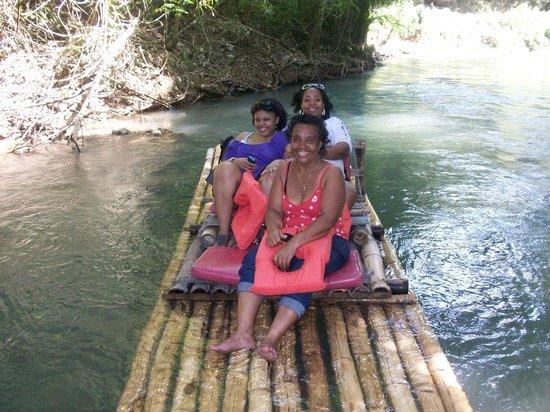 Martha Brae River: the three of us enjoying the ride
