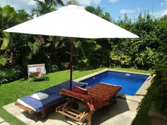 The Zen Villas: pool from villa E