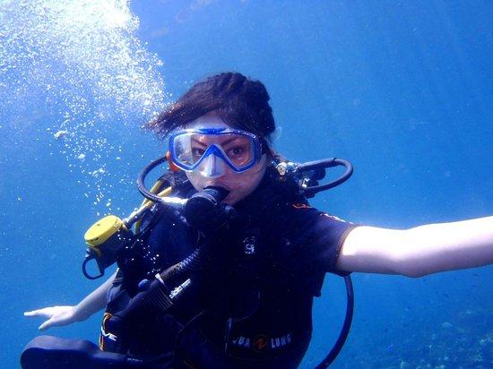 Blue Season Bali: A pose in deep blue sea
