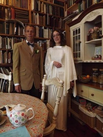 Sanctuary Bookshop and Booklover's B&B: my sister and I on her wedding day.