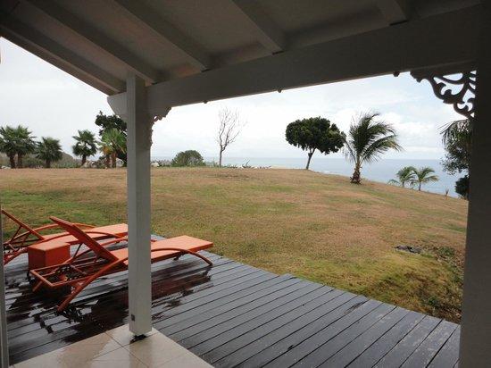 La Toubana Hotel & Spa: Vue de notre chambre sous la terrasse couverte
