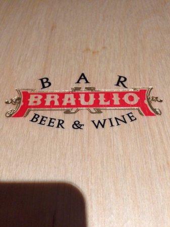 Bar Braulio Beer & Wine: La copertina della lista