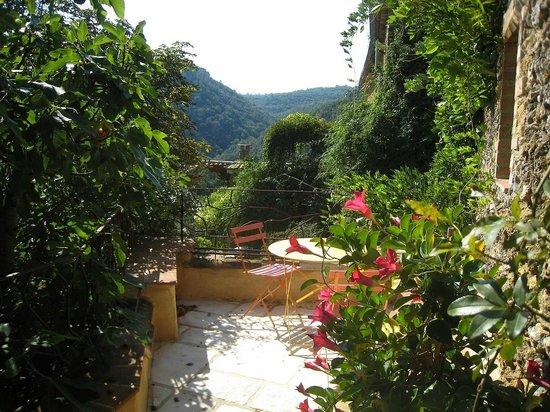 Mas Suéjol : Gite La Clède terrasse ouest
