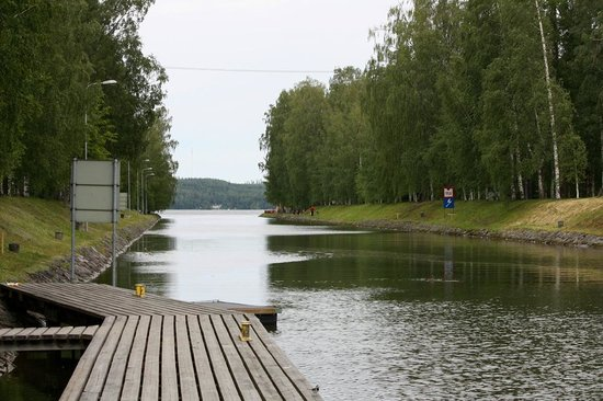 Asikkala, Finland: Vääksy canal connects Lake Vesijärvi to Lake Päijänne.