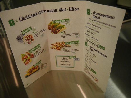 Mexillico : les plats proposés, trop bons !