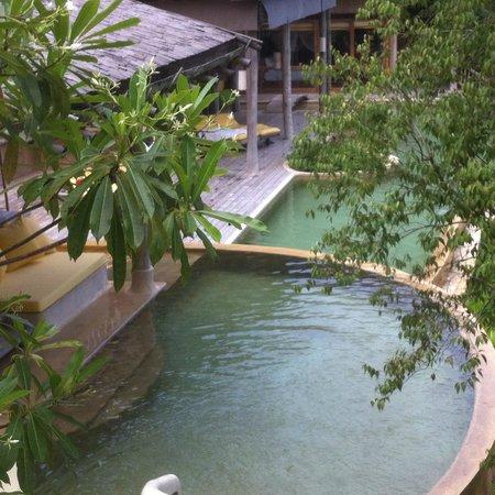Soneva Kiri: View of the pool of villa 29