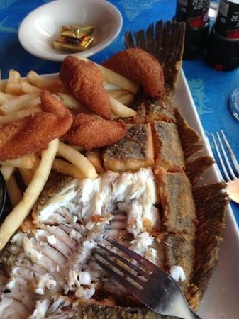 Turtle Island: flounder, fritters and fries