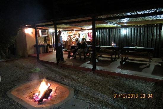 Kudu Ridge Game Ranch : Night time in the Boma