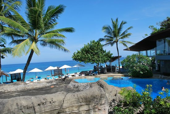 Hilton Bali Resort: one part of the pool area