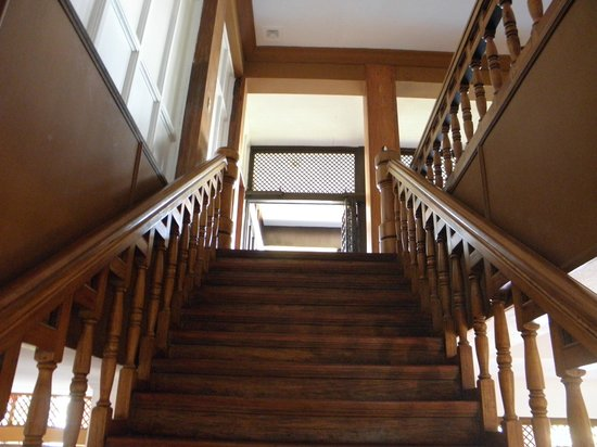 Malacanang Of The North: An ornate wooden staircase