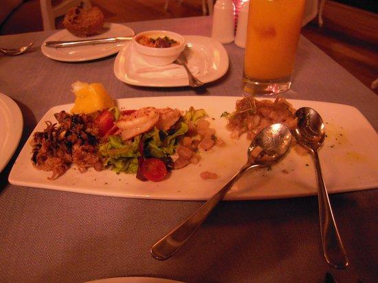 Barracuda Restaurant : この前菜だけは絶品(途中で気づいて撮影)