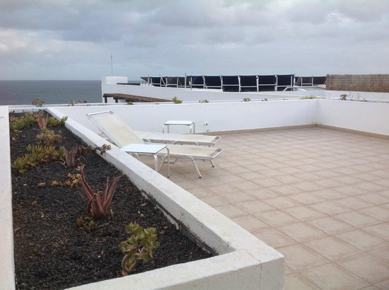 "Hesperia Lanzarote: Our terrace ""with a view"" of solar panels"